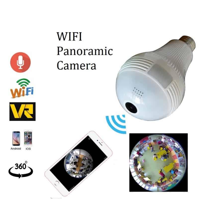 Zjuxin Wifi Panoramic 360 Degree Wireless Ip Light Bulb