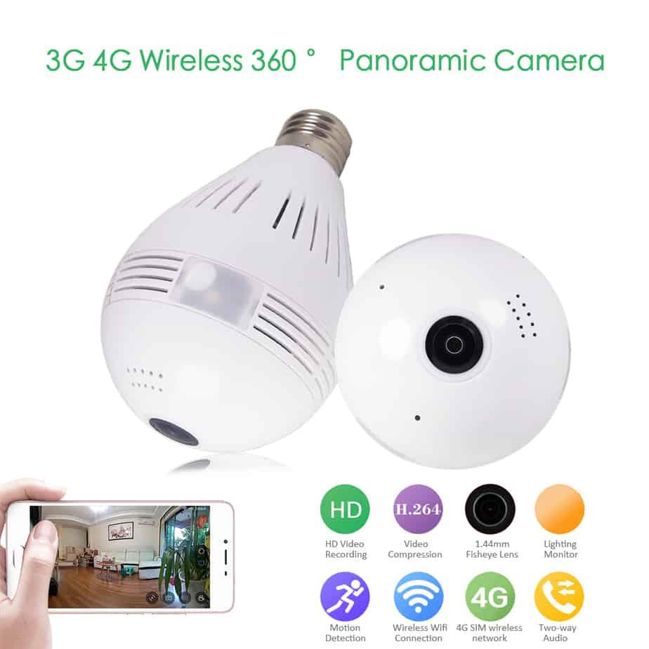 Light Bulb Shop Hong Kong: ASZHONGA 1080P(Full-HD) Two Way Audio White Light Bulb