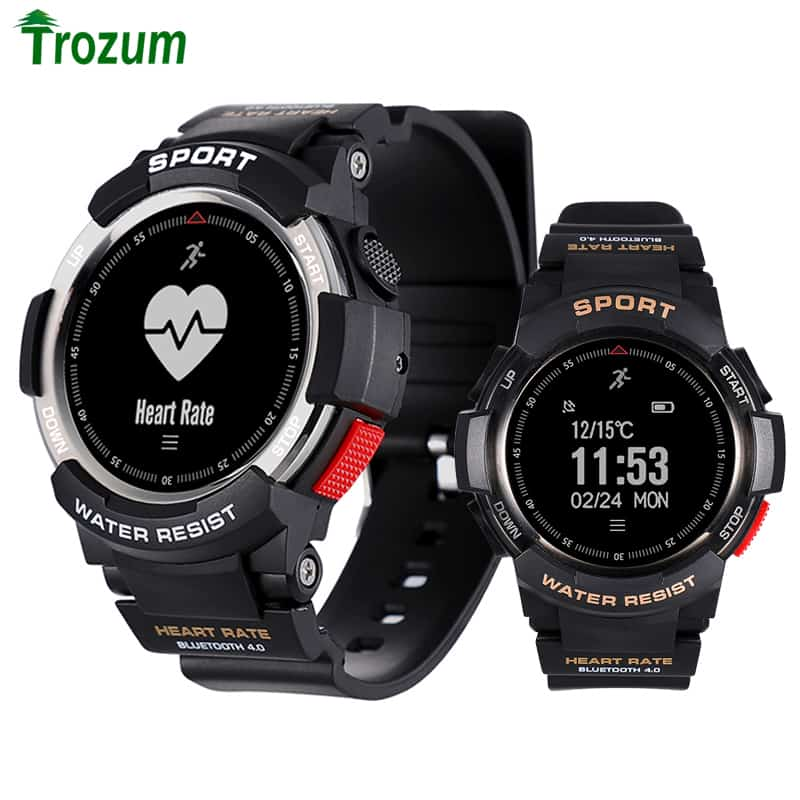 Waterproof Bluetooth 4 0 Heart Rate Monitor Smart Watch Remote Camera  Pedometer For Android IOS