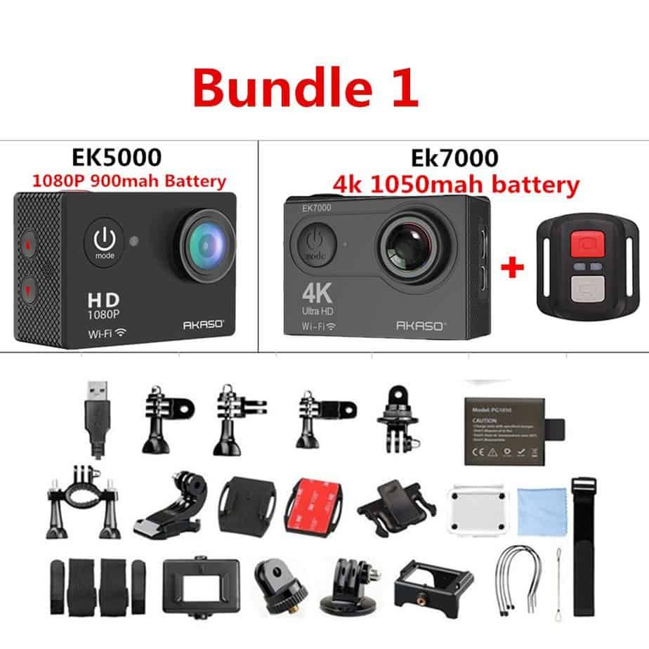 AKASO WIFI Outdoor Action Camera Video Extreme Sports Ultra HD Diving  Waterproof 12MP 170 Wide Angle