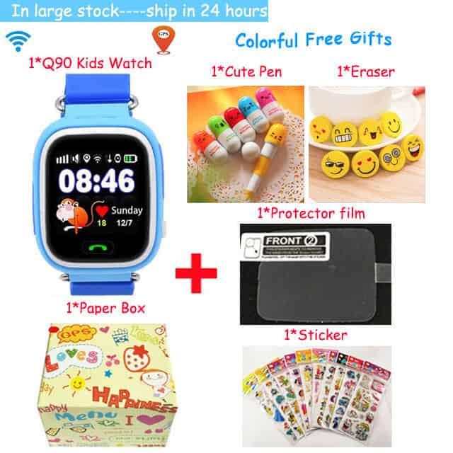 GPS Q90 Smart Baby Watch Phone with Sim Card WIFI Location
